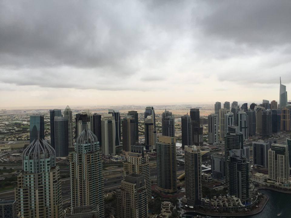 Dubai Marina in the rain