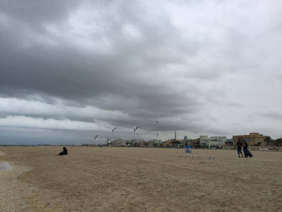 Jumeriah Open Beach in the rain