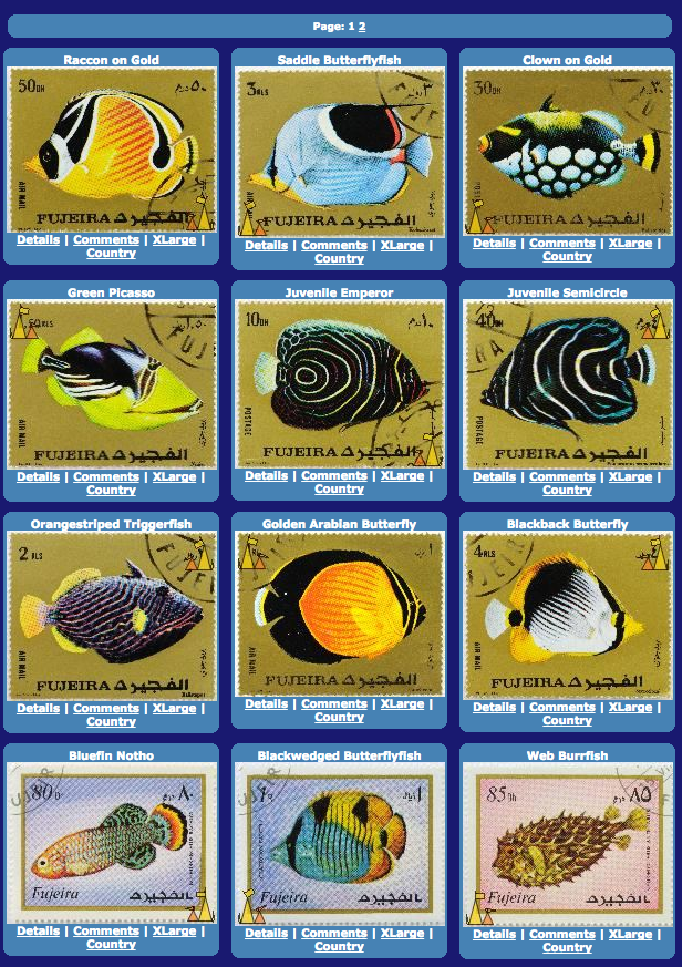 Fish stamps of the UAE 1960s